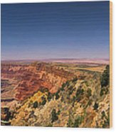Grand Canyon Desert View Watchtower Panorama Wood Print