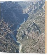 Grand Canyon Du Verdon Overview Wood Print