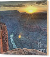 Grand Canyon First Light Wood Print