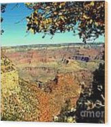 Grand Canyon Framed By Nature Wood Print
