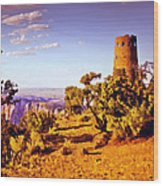 Grand Canyon National Park Golden Hour Watchtower Wood Print