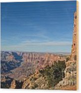 Grand Canyon National Park Mary Colter Designed Desert View Watchtower Near Sunset Wood Print
