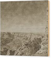 Grand Canyon National Park Mary Colter Designed Desert View Watchtower Vintage Wood Print
