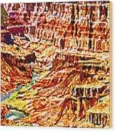 Grand Canyon Navajo Painting Wood Print