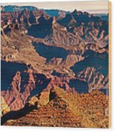 Grand Canyon Navajo Point Panorama At Sunrise Wood Print