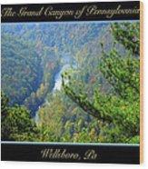Grand Canyon Of Pennsylvania Wellsboro Wood Print