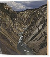 Grand Canyon Of The Yellowstone - 25x63 Wood Print