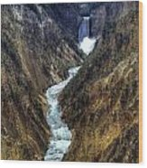 Grand Canyon Of Yellowstone - From Artist Point Wood Print