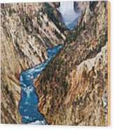 Grand Canyon Of Yellowstone Wood Print by Bill Gallagher