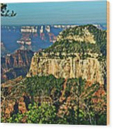 Grand Canyon Peak Angel Point Wood Print
