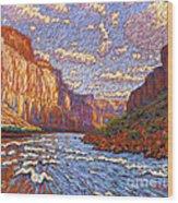 Grand Canyon Riffle Wood Print