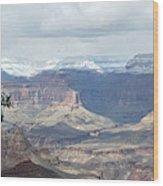 Grand Canyon Shadows And Snow Wood Print