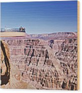 Grand Canyon Skywalk, Eagle Point, West Wood Print