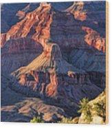 Grand Canyon Sunset Ridge Wood Print
