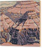 Grand Canyon Travel Poster 1938 Wood Print