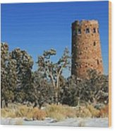 Grand Canyon Watch Tower Wood Print