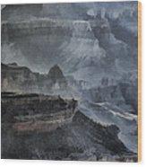 Grand Canyon Watercolor Wood Print