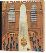Grand Central Heating Wood Print