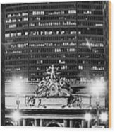 Grand Central Pan Am Building Wood Print