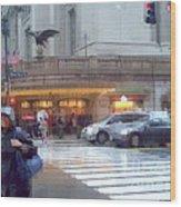 Grand Central Rain - 42nd Street Wood Print