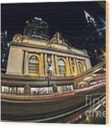 Grand Central Station And Chrysler Building Wood Print