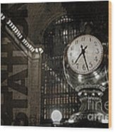 Grand Central Station New York City Wood Print
