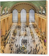 Grand Central Terminal Birds Eye View I Wood Print by Susan Candelario
