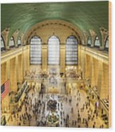 Grand Central Terminal Birds Eye View Wood Print
