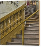 Grand Central Terminal Staircase Wood Print