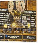 Grand Cerntral Terminal Clock No. 1 Wood Print