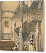 Grand Elizabethan Staircase Wood Print