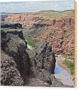 Grand Falls Viewpoint Wood Print