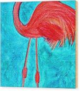 Grand Flamingo Wood Print