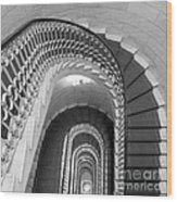 Grand Flora Stairwell Rome Italy Wood Print