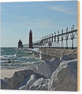 Grand Haven Lighthouse Wood Print