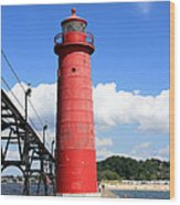 Grand Haven Rear Light Wood Print