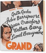 Grand Hotel, Us Poster, Top From Left Wood Print