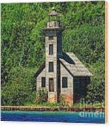 Grand Island East Channel Light Wood Print