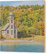 Grand Island East Channel Lighthouse Wood Print