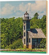 Grand Island Lighthouse Wood Print