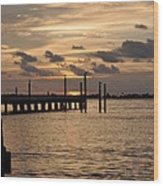Grand Isle Sunset # 1 Wood Print