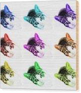 Grand Kitty Cuteness 3 Pop Art 9 Wood Print