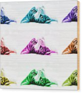 Grand Kitty Cuteness Pop Art 9 Wood Print