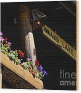 Grand Lake Lodge Porch Wood Print