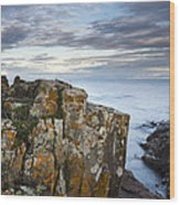 Grand Marais Cliffs Wood Print