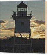 Grand Marais Mn Lighthouse 6 Wood Print