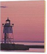 Grand Marais Mn Lighthouse 8 Wood Print