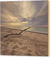 Grand Mere Sunset - Driftwood Wood Print