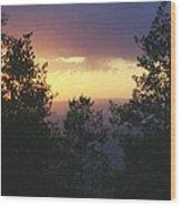 Grand Mesa Sunset Wood Print