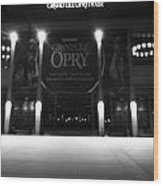 Grand Ole Opry At Night Wood Print by Dan Sproul